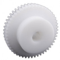 Spur gear, module 1, number of teeth 14, material: delrin