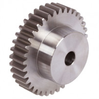 Spur gear, module 2.5, number of teeth 18
